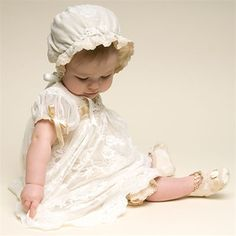 Baby Girl Romper Dress - Louisa Christening/Baptism Collection - Fancy Gowns & Dresss