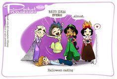 Pocket Princess 168 by Amy Mebberson Disney Pixar, Disney Marvel, Disney And Dreamworks, Disney Love, Disney Magic, Disney Stuff, Disney Princes, Disney Girls, Pocket Princesses