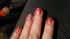 Fun short nail design