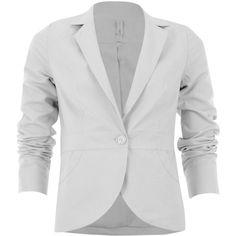 Veste tailleur en lin ❤ liked on Polyvore