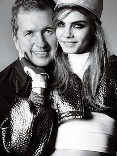 Fashion Photographer @mariotestino and adorable @caradelevingne Photos by Mario Testino For Cara's Birthday