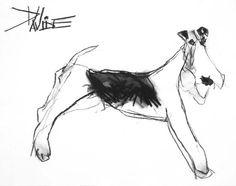 Charcoal Dog Portraits by Valerie Davide