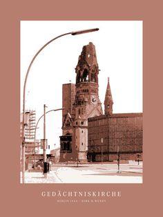 'Berlin Gedächtniskirche' von Dirk h. Wendt bei artflakes.com als Poster oder Kunstdruck $19.41