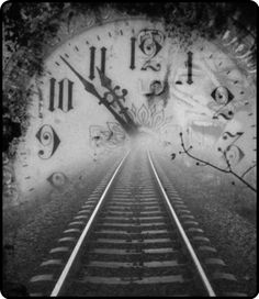 clock and train tracks Tattoo Tod, What Time Is, As Time Goes By, Night Circus, Train Tracks, Belle Photo, Railroad Tracks, Journey, In This Moment