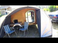 Casa Rodante Teardrop Trailer MiniCamper - YouTube