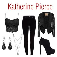 Designer Clothes, Shoes & Bags for Women Vampire Diaries Outfits, Katherine Pierce, Max Azria, Inspired Outfits, Giuseppe Zanotti, Vince Camuto, River Island, Badass, Autumn Fashion