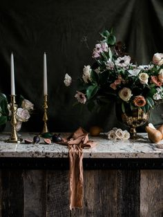 Moody and Romantic . Romantic, Candles, Fine Art, Table Decorations, Shadows, Floral, Flowers, Mood, Home Decor