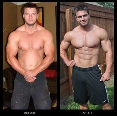 Look at the difference! You can have six pack too with our advice.