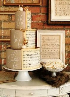 I cannot believe everything on this cake is edible. The rope, bells and sheet music. Cake Wrecks - Home - Sunday Sweets: Your Holiday Happy Place Music Wedding Cakes, Music Cakes, Themed Wedding Cakes, Music Themed Cakes, Wedding Themes, Gorgeous Cakes, Pretty Cakes, Amazing Cakes, Cake Wrecks