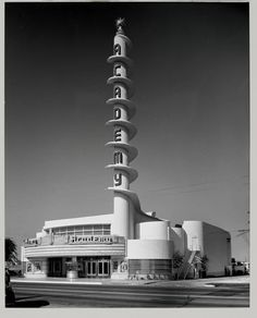 Academy theater Inglewood, CA.   Photo by Julius Shulman