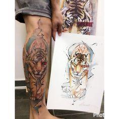 "904 curtidas, 13 comentários - Lincoln Marques (@lincoln_tattoo) no Instagram: ""Tiger #tiger #electricink #equilattera #tattoo2us #tattoo2me #tattrx #tigre #tattoodesign…"""