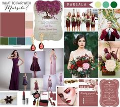 marsala wedding mood board