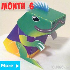 Miri from Month 6 Foldigo activity pack | Fun activities for kids, delivered! | Foldigo