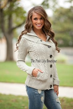The Pink Lily Boutique - Chill No More Jacket Stone Curvy , $45.00 (http://thepinklilyboutique.com/chill-no-more-jacket-stone-curvy/)