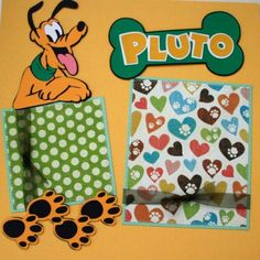 PLUTO Disney Premade Scrapbook Pages by scrappinwithamy on Etsy, $20.00