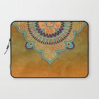 Laptop Sleeve featuring Mandala Ornament by LebensART