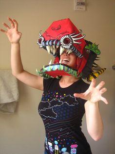 Zoo Carácter: Yeso y Papel Mache Máscara de dragón