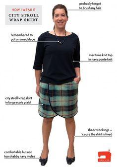 how i wear it: shelley's city stroll wrap skirt