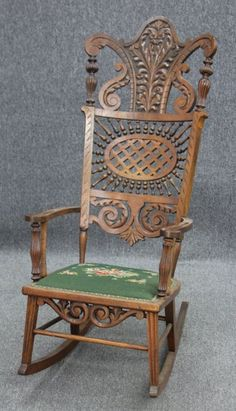 beautiful antique rocking chair decorating pinterest osier rotin et chaise fauteuil. Black Bedroom Furniture Sets. Home Design Ideas