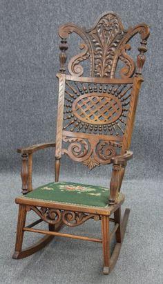 antique rocking chair price guide weird guy oak child's highchair/rocker circa 1900 | baby stuff pinterest rockers ...