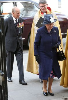 Noblesse et Royautés: 70th Anniversary of Victory in Europe, Service of Thanksgiving, Westminster Abbey, May 10, 2015-Duke of Edinburgh and Queen Elizabeth