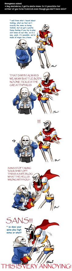 Undertale ask blog: tickles ||| Sans and Papyrus ||| Undertale Fan Art by bPAVLICA on DeviantArt
