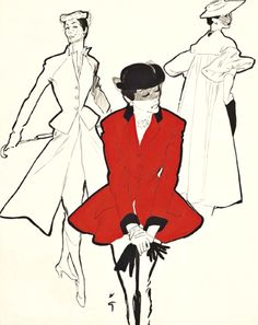 https://flic.kr/p/pS4cPM | Fashion illustration by René Gruau | (Credit: All rights belong to the illustrator)