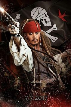 *CAPTAIN JACK SPARROW (Johnny Depp) ~ PIRATES of the CARIBBEAN, July 7, 2017