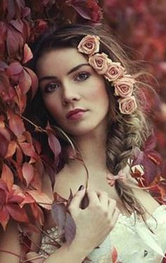 ❀ Flower Maiden Fantasy ❀ women & flowers in art fashion photography - peaches and cream | tumblr