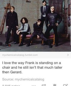Also, Mikey doesn't know what to do with his legs and Gerard is being a sass queen. Mcr Memes, Band Memes, Mcr Quotes, Emo Bands, Music Bands, Mcr Band, Music Stuff, My Music, Mikey Way