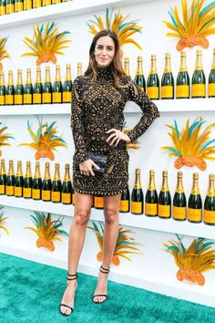 Gala Gonzalez celebrates Carnaval at Veuve Clicquot in Miami. See all the best dressed attendees here.
