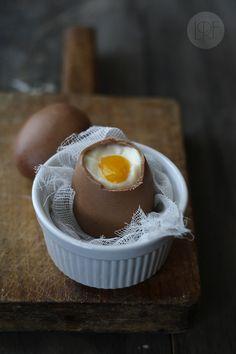 Falso Huevo poche #chocolate #mango | La Receta de la Felicidad