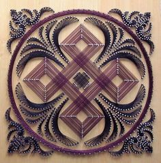 This is a whole other level of string art @Cristin Harrell Harrell Harrell Kochanowicz