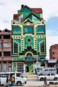 Aymaran Freddy Mamani Silvestre - New Andean architecture in El Alto, Bolivia