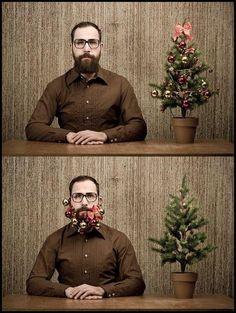 hipster christmas tree...I want to see my brother do this!!!