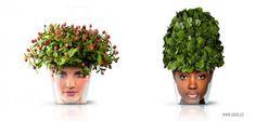 Веселые цветочные горшки Facepod