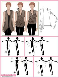 DIY Clothing Ideas that focus on Refashion and we made sure we included the picture instructions so you know exactly how it's done. Share your refashion projects in the comments below. Diy Clothes Refashion, Diy Clothing, Sewing Clothes, Clothing Patterns, Sewing Patterns, Diy Clothes Tops, Closet Clothing, Sewing Hacks, Sewing Tutorials