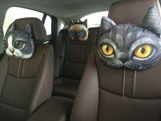 #Kopfstützen #Hunde #Katzen #Tiger #Leopard  #NEUHEIT #PKW #Auto #kfz #Autositze #Zubehör #Nacken # http://kugellicht.ecwid.com/