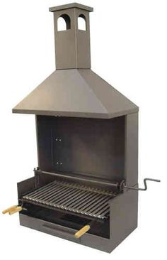 Barbecue Drawer with Chimney small - The Barbecue Store Spain Backyard Barbeque, Bbq Grill, Fireplace Doors, Fireplace Mantels, Argentine Grill, Custom Bbq Pits, Camping Cooker, Metal Grill, Built In Grill