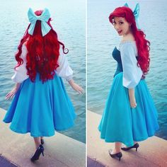 "2,813 Likes, 42 Comments - kelsey of toughtink cosplay (@toughtink) on Instagram: ""happy #mermaidmonday (minus the fin lol) after many years, my ariel wig is dead now, so i'm in…"""