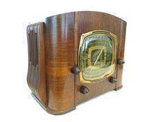 Vintage 1930s Old Detrola Large Dial Antique Depression Era Art Deco Tube Radio   eBay