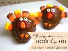 25+ Thanksgiving Desserts for Kids  {Handcrafted Parties}