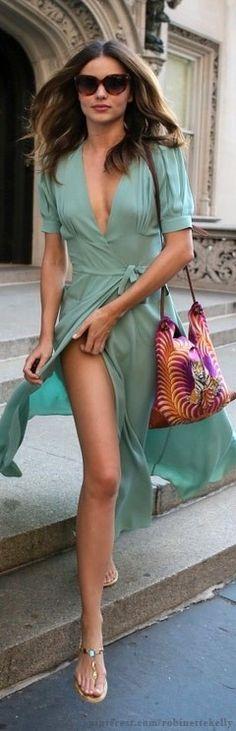 Street Style | Miranda Kerr in Mint