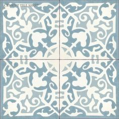 My future bathroom floor!  Cement tile shop madrid – at the beach with kris