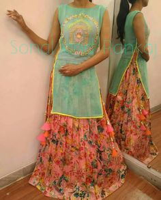 Indowestern Kurtis By Sonal. For trade inquiries contact +919669166763 Or email : scarletmapleboutique@gmail.com.
