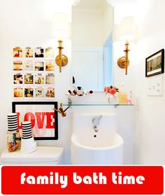 cute tiny bathroom! love the sink and mirror  (interior by Anna Beth Chao)