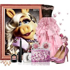 """Miss Piggy"" by jess-d90 on Polyvore"