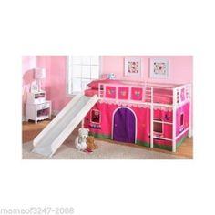 Flower Princess Girls Bunk Bed Curtain Set Twin Loft Furniture Kids Toddler Toy