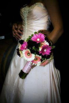 Gerbera daisies with bling