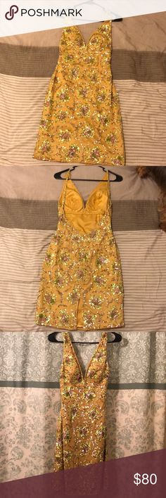 Pretty yellow dress It is really comfortable dress to dance around with. It's a good wedding guest dress scala Dresses Midi